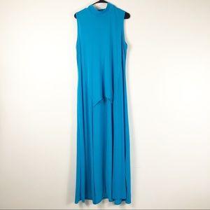 Ashley Stewart Blue High Low Blouse Size 18/20